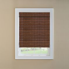 @ Lowes - Levolor Cinnamon Light Filtering Woven Wood Natural Roman Shade (Common: 36-in; Actual: 35.5-in x 72-in)