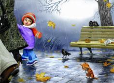 Сообщество иллюстраторов / Иллюстрации / Рина З. / Я несчастный голодный котенок 2