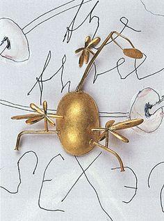 avant garde jewelry Brosche 'Die drei Grazien' Manfred Bischoff 1998. Courtesy Schmuckmuseum Pforzheim