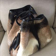 Goat satchel Rare exotic goat fur Bags Totes