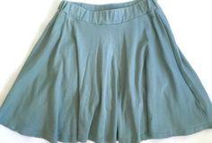 Anthropologie A'Reve Aqua Blue Knit Skater Skirt Attached Short Small | eBay