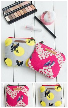 Free sewing pattern for a cute and practical zipper bag. This small size is really handy. I use one to carry my feminine products in my purse.