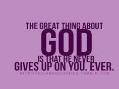 Great thing about God