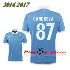 Les Nouveaux Maillot SS Lazio CANDREVA 87 Domicile Bleu 2016 2017: fr-moinscher