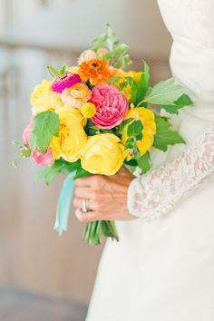 Vibrant Colourful Wedding: Flowers