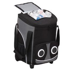 Bluetooth Rolling Speaker Cooler, Black