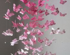 Monarch Butterfly Chandelier   Mobile -Perfectly Pink version II , baby nursery, mobile, nursery mobile