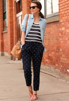 Easy mixed prints #oldnavystyle