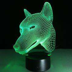 See related links to what you are looking for. 3d Dog, Mood Lamps, Led Night Light, Night Lights, Light Led, Art And Technology, Lamp Design, Light Table, Light Decorations