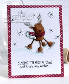 Stamping Bella Rudolph the Skating Reindeer rubber stamp. Click through to read the blog post, and see more peeks and inspiration from the new release. Release Date 3rd Sept 2016.