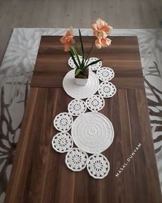 Study In Circles Crochet Motif Table Runner Pattern Crochet Table Runner Pattern, Crochet Placemats, Crochet Blanket Patterns, Crochet Motif, Crochet Designs, Crochet Doilies, Diy Crafts Crochet, Crochet Home Decor, Farmhouse Table Runners