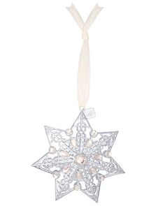 2013 Silver Star Ornament with Iridescent Crystal - Kendra Scott Jewelry.