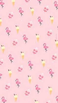 Wallpaper Glace Flamingo summer #IphoneWallpapers