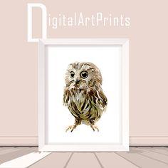 Cute Owl Baby Owl Print Woodland Illustration Baby Owl Digital Print Baby Owl Printable Baby Owl Download Owl Poster Owl Art Owl Digital Art by DigitalArtPrintsShop on Etsy