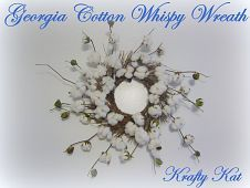 Christmas Wreaths :: Hometalk  How I wish I had the cotton to do this...