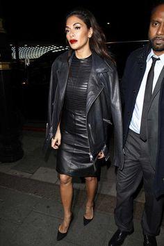 Nicole Scherzinger arrives back at her hotel after X Factor