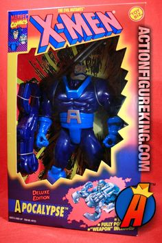 MIB sample of this X-Men Deluxe 10-Inch Apocalypse Action figure. This is the original figure that was later re-issued as the Meteor Might Apocalypse under the Marvel Universe line of 10-inch figures. #xmenfigures #toybiz #apocalypse
