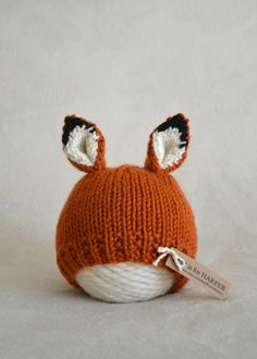 Fox - Fox foto Prop - Baby Fox cappello - neonato - 3-6 mese - mese 6-12 - 12-18…