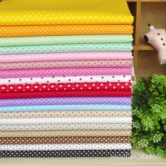 "Polka+Dot+Series+19+Assorted+Pre-Cut+Charm+Cotton+Quilt+Fabric+Quarters+17.7""+#Unbranded"