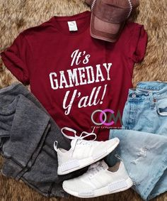 Game Day Shirt, It's Game Day Y'all, Game Day Mode Alabama Football Shirts, Softball Shirts, Women's Football, College Football, Monogram Shirts, Vinyl Shirts, Coaches Wife, Game Day Shirts, Spirit Shirts