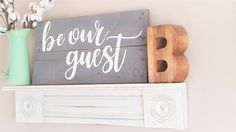 Be Our Guest Wood Sign Reclaimed Wood Guest Room Decor by LoveMadeThisDecor
