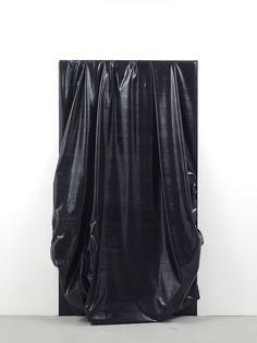 Angela de la Cruz, Stuck, (light will someday split you open) Contemporary Sculpture, Contemporary Paintings, Abstract Sculpture, Sculpture Art, Inside Art, Textile Fiber Art, Gold Art, Installation Art, Shape And Form