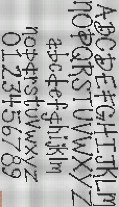 cross stitch letter pattern - Rotated Alpha Pattern #12843 added by KnotCrazy