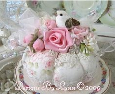 Image detail for -Pink Roses Shabby Romantic Pin Cushion Confection 156 Designs By Lynn ...