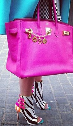 Hot Pink Birkin but Check out these shoes!! Look after them with shoe-love.com.au
