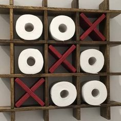 TIC-TAC-TOE toilet paper holder  toilet paper holder