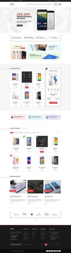iSmiler Store is a multi-concept and responsive eCommerce PSD Template with clean and modern design. It is perfectly suitable for any kind of web shop that is selling tech items or any other types ...