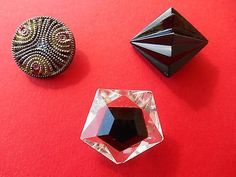 Boutons anciens verre