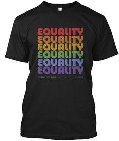 National Pride March T Shirt Lgbt Black T-Shirt Front
