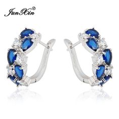Get it while it's hot! New to the store, New Fashion Blue ... Check it out here! http://maxvaluestore.com/products/new-fashion-blue-crystal-zircon-hoop-925-sterling-silver-filled-vintage-earrings?utm_campaign=social_autopilot&utm_source=pin&utm_medium=pin