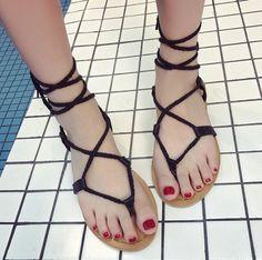 GET $50 NOW   Join RoseGal: Get YOUR $50 NOW!http://www.rosegal.com/sandals/tie-up-flat-heel-sandals-1170057.html?seid=4514413rg1170057