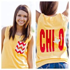 Monogrammed Tank Chi Omega with Texas by SLTSouthernDesigns, $32.00.....Get this for DG chapter order