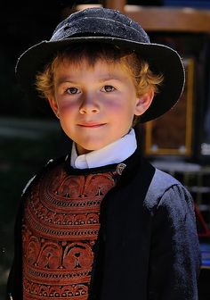 Little Breton boy in costume, France