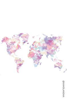 Wall Paper Disney Desktop World Ideas World Map Wallpaper, Tumblr Wallpaper, Pink Wallpaper, Screen Wallpaper, Wallpaper Backgrounds, Iphone Wallpaper, Tumblr Iphone, Pink Iphone, Cute Wallpapers