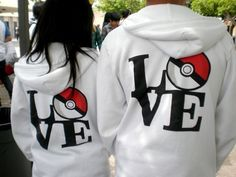 Pokemon couples hoodies? I don't usually like that stuff but... i do love pokemon