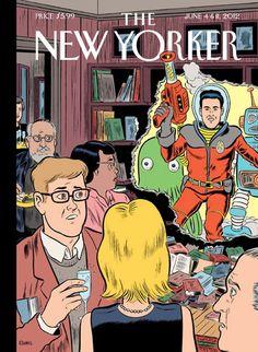The New Yorker, la revista intelectual y sofisticada de referencia, y un especial ciencia ficción. La ilustración es deDaniel Clowes.
