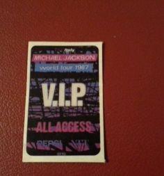 Michael Jackson  Vip World Tour 1987 Card - http://www.michael-jackson-memorabilia.co.uk/?p=8569