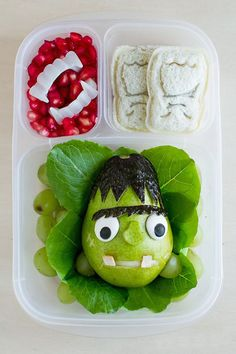 Turn a pear into Frankenstein for lunch.