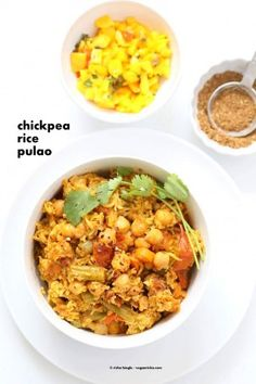 Curried Chickpea Rice Pulao – One Pot Pilaf June 17, 2015 By Richa 22 Comments