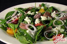 Салат из шпината рецепт