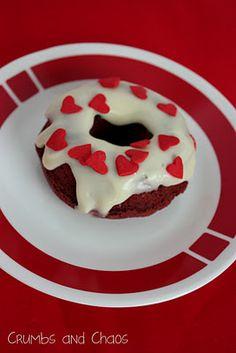 Baked Red Velvet Doughnuts... aren't these adorable?!?
