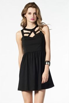 İRONİ - Hafta Sonu Stili - Siyah Elbise 5758-758 %50 indirimle 29,99TL ile Trendyol da
