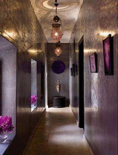 How To Live Like an Omani Princess: Pretty Purple Moroccan Riad design