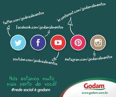 Nós estamos muito mais perto de você!  #rede social é Godam #godam #sabor #saude #bemestar