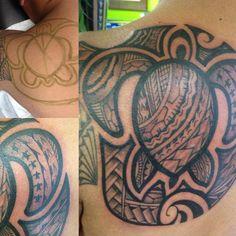 Ended da day with this! #hanotattoo #maui #pacificrootztattoo #turtle #honu #tattoo #inked #polyink #hawaii #tahiti #samoa #aotearoa #inkjectaflitev2 #fkironshalo2 #lacenano #surf #islandink #streetfighter #aloha
