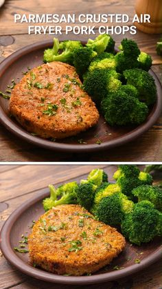 Air Fryer Pork Chops have SO much flavor from a delicious Parmesan Crust on the outside. They are tender, juicy and delicious. The perfect healthy, family friendly dinner that's quick and easy to make for a dinner during the weeknight. Air Fryer Oven Recipes, Air Frier Recipes, Air Fryer Dinner Recipes, Air Fryer Recipes Videos, Healthy Family Dinners, Healthy Dinner Recipes, Air Fryer Pork Chops, Air Fryer Recipes Pork Chops, Pork Chop Dinner